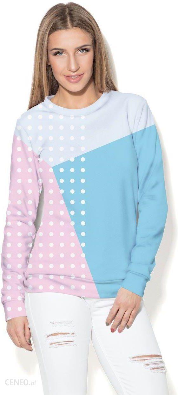bluza damska niebiesko różowa