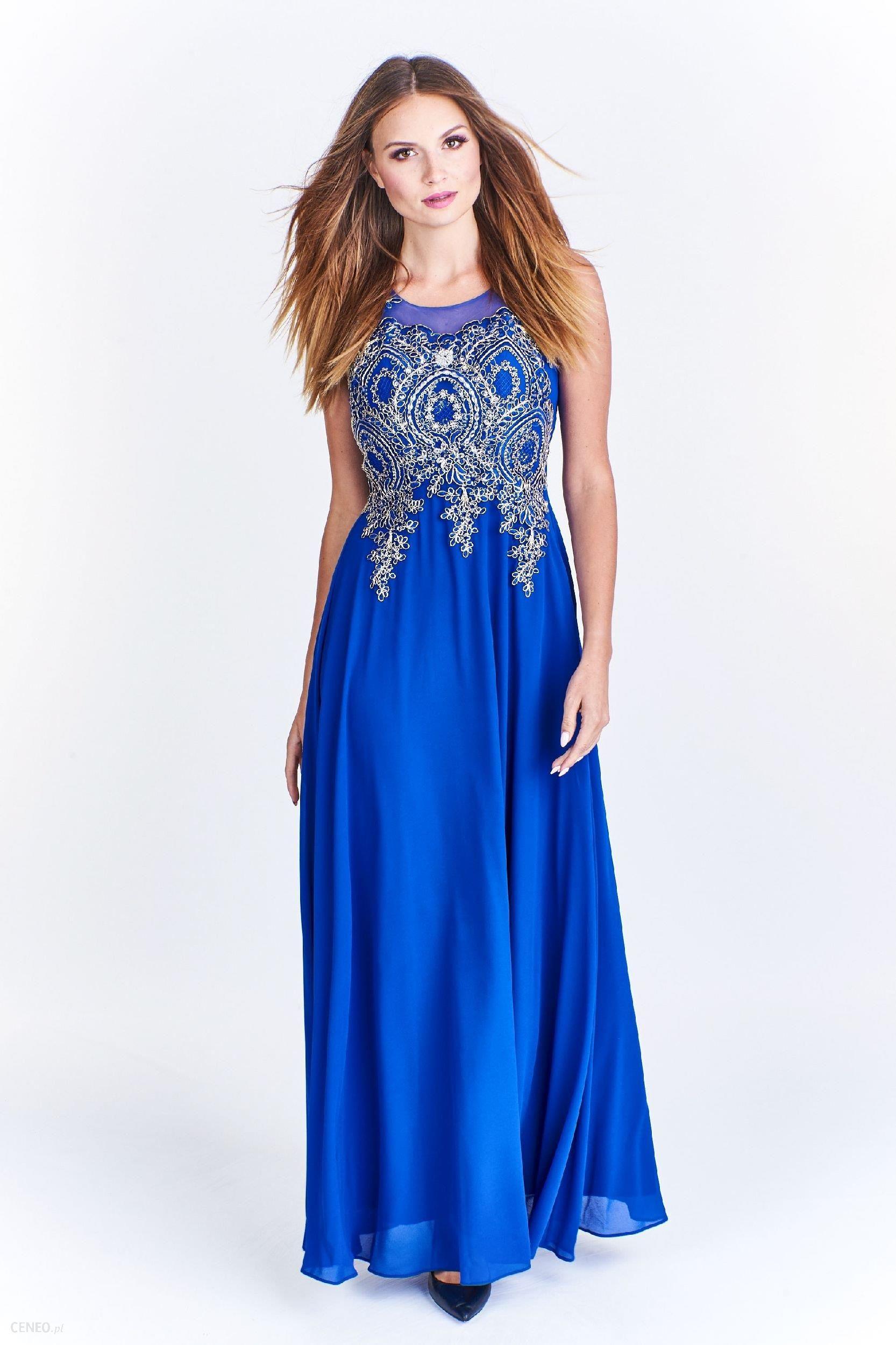 9103ba5b89 Ptak Moda Elegancka sukienka maxi M36684 szafirowa r. 38 - Ceny i ...