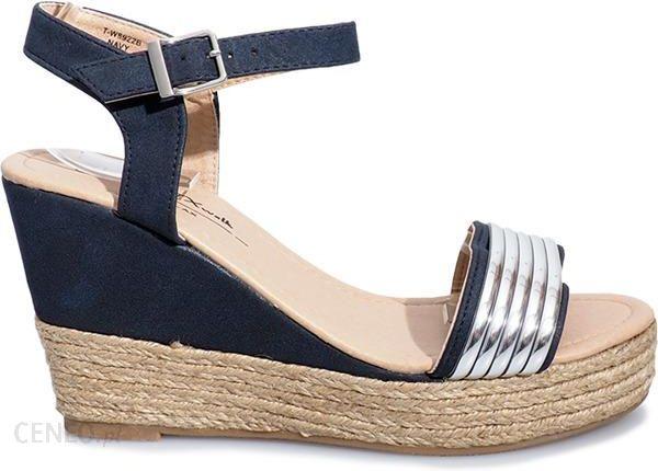 3a903071 Granatowe sandały koturn sandałki espadryle 124 36 - Ceny i opinie ...