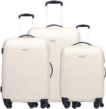 c01c42080f67b Zestaw walizek PUCCINI VOYAGER ZWPC005 6A Białe - biały - Ceny i ...