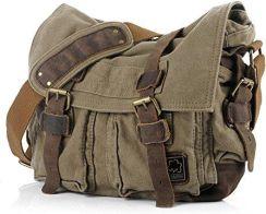 d5365ab26dad2 Amazon jonon Vintage Military Men Canvas torba na ramię do laptopa 13.3 –  17 (rozmiar