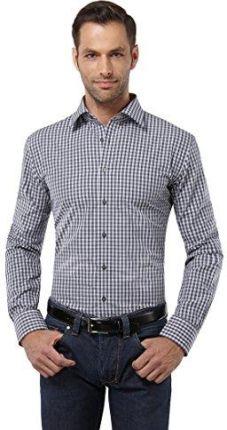 27cb91f17 Amazon embrær męska koszula Slim Fit z długim rękawem w kratkę o wysokim  kontraście duży -