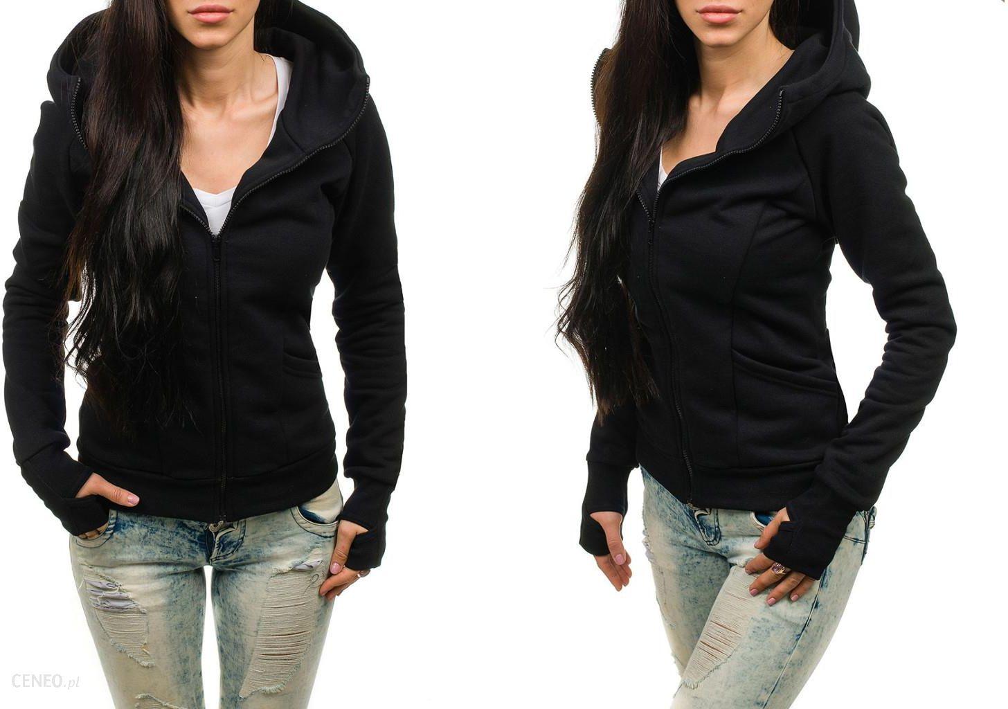 bluza damska czarna rozsuwana