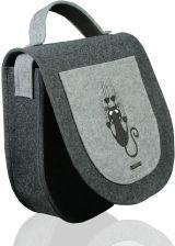 07f61536ad373 Duża torebka filcowa z haftem listonoszka - Zosia
