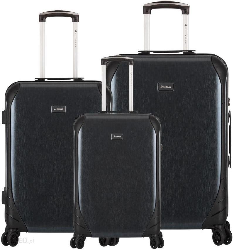 95a9a36a7d092 Sirocco zestaw walizek T-1159/3 ABS Black - Ceny i opinie - Ceneo.pl