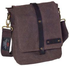 dd1ef3770d876 Bawełniana torba na ramię unisex 2JUS by DAAG Zone 2 brązowa - brązowy