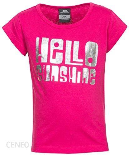 4cac0e62c1196 Amazon Trespass dziewcząt Hello T-Shirt z modnym nadrukiem czołowego,  różowy, 7/