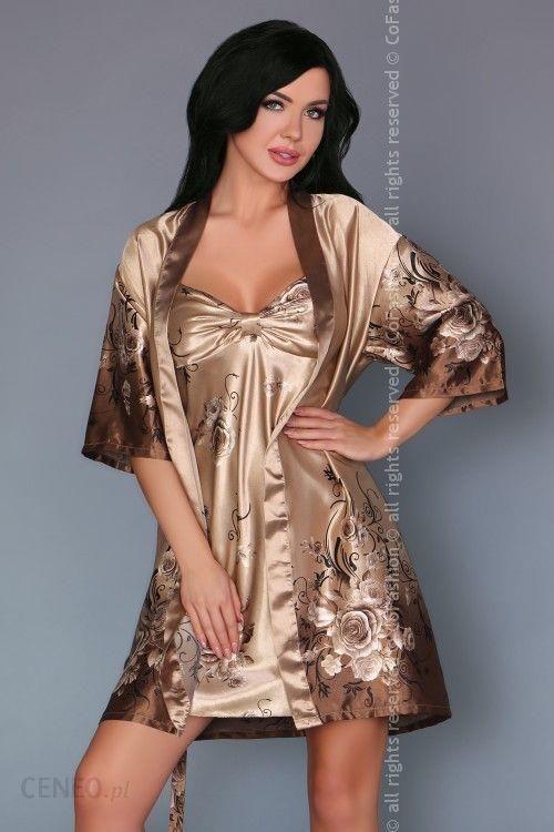 6cdb1e646b7cbd Szlafrok I Koszulka Złoty Luksusowy Komplet L/XL - Ceny i opinie ...