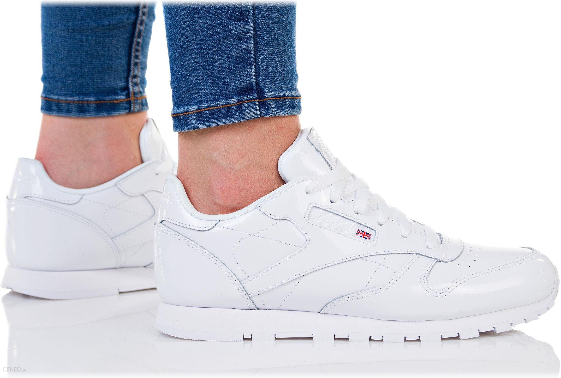 Wyprzedaż Buty Damskie Reebok Classic Leather Białe