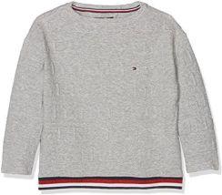 9e68dc81d6014 Amazon Tommy Hilfiger dziewczynka bluza, kolor: szary (GREY HEATHER 004)  Not Applicable