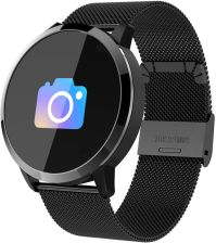 Q8 Color Screen Smart Bracelet Bluetooth Fitness Tracker Bracelet with Stainless Steel Band