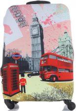 18ad83483e52b Pokrowiec na Walizkę firmy Snowball w rozmiarze M Elastyczny i Wytrzymały  London Multikolor Róż (kolory ...