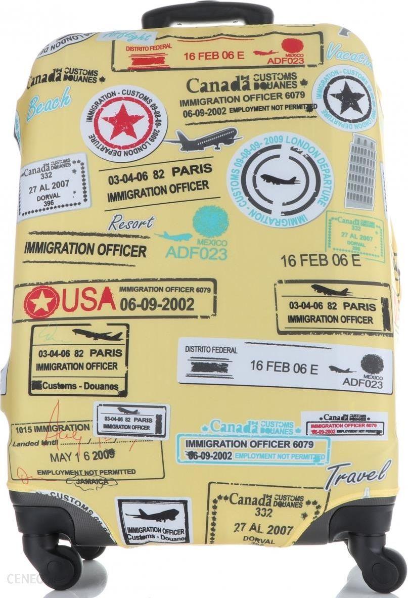 Pokrowiec na Walizki firmy Snowball w rozmiarze M Elastyczny i Wytrzymały  Paris Multikolor Żółty (kolory) - Ceny i opinie - Ceneo pl