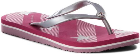 036a04711df22 Japonki TOMMY HILFIGER - Stars And Stripes Beach Sandal FW0FW02384 Bright  Rose 633 eobuwie