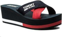 afaf7b67a4f30 Klapki TOMMY JEANS - Sporty Mid Beach Sandal EN0EN00068 Tommy Navy 406