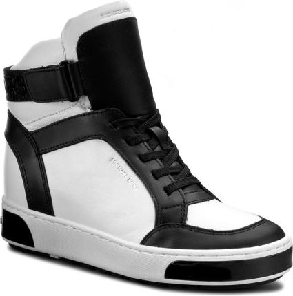 c9dbbe85d835a Sneakersy MICHAEL KORS - Pia High Top 43F6PAFE5L Opticwht Blk eobuwie