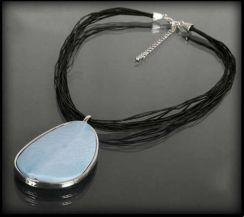 d5e30e90513666 Evangarda Naszyjnik Z Dużym Niebieskim Kamieniem