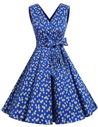 3ed3fe668f Amazon dresstells XX Vintage Retro Rockabilly Sukienka bez rękawów  świąteczne impreza sukienka koktajlowa - swing xl