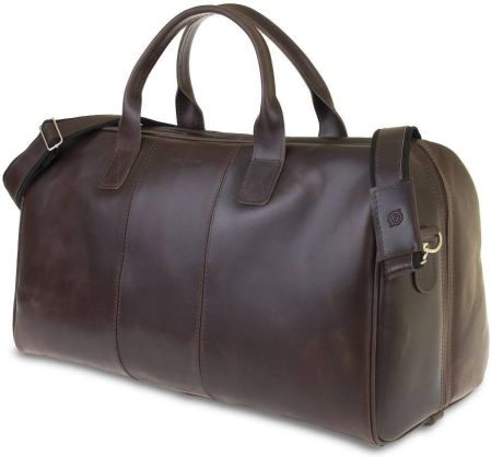 2d27b7f195bc0 StylowaTorba.pl Podróżna torba na ramię ze skóry Brodrene ciemny brąz  smooth leather