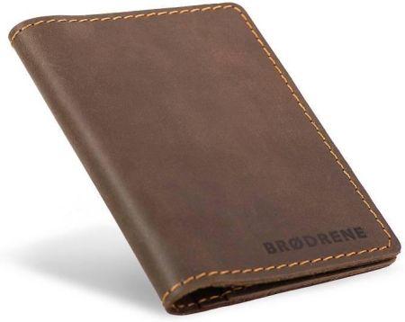 cc5e3290d064e StylowaTorba.pl Slim wallet Brodrene super cienki portfel ze skóry ciemny  brąz
