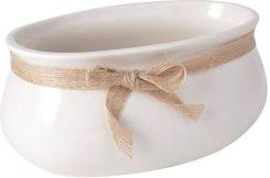 Osłonka Doniczki Ceramiczna Spirala 1 Ecru 155 Ceny I