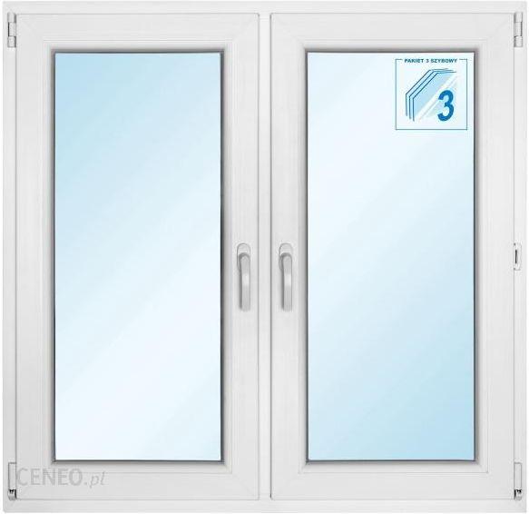 Okno Pcv Rozwierne + Rozwierno-Uchylne 1165x1135mm Białe Symetryczne