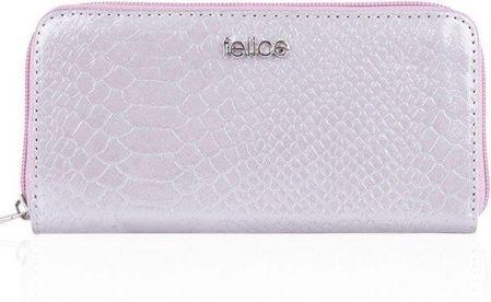 7d3dded077d66 Skórzany portfel damski Felice P02 jasnoróżowy - Jasny różowy