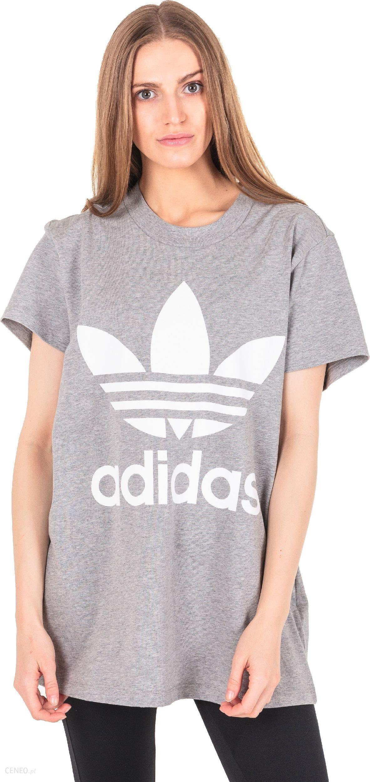 Adidas Koszulka damska Originals Trefoil Tee CY4762 CY4762 szara r. 36 (CY4762) Ceny i opinie Ceneo.pl