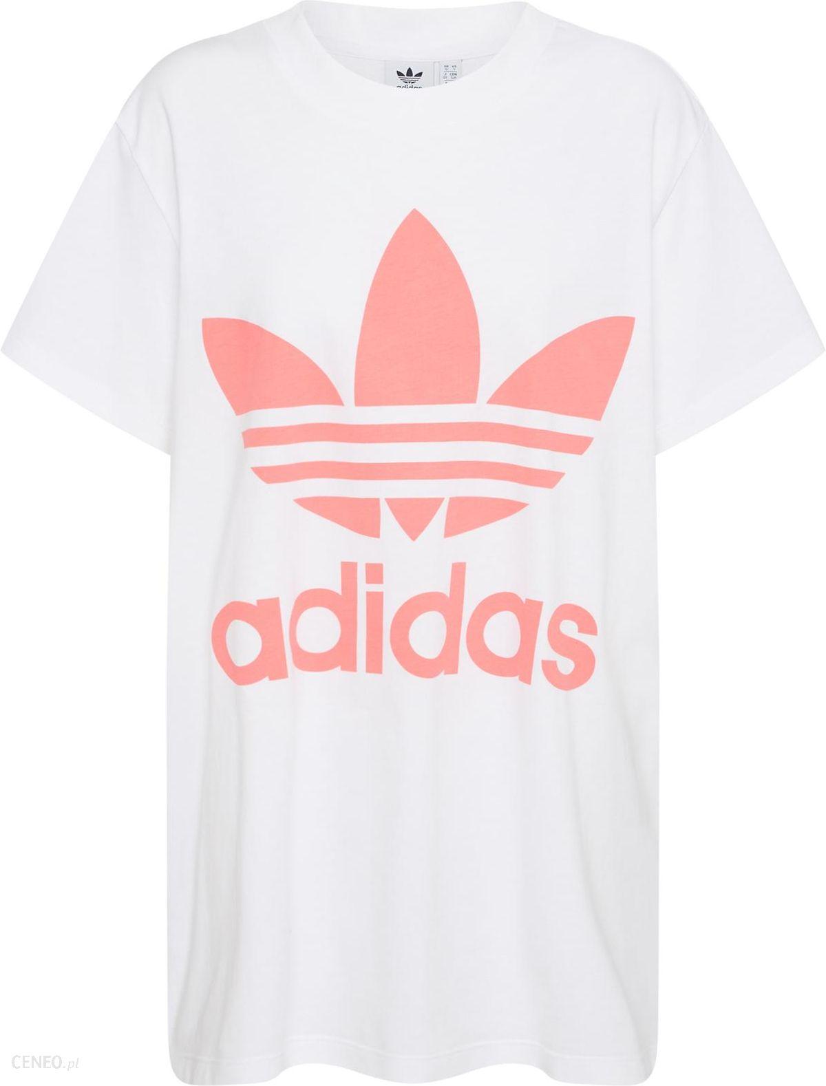 Bluza damska biała Adidas Originals z bawełny krótka w Domodi