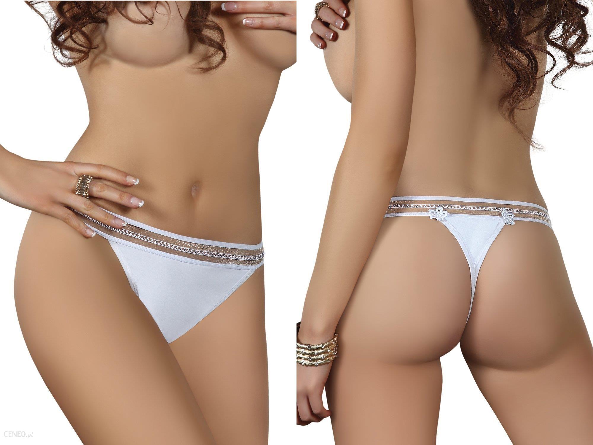 430b6e2b37915f Sexy Bielizna Eleganckie Białe Stringi!MAJTKI L/XL - Ceny i opinie ...