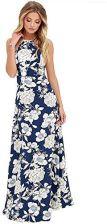 18ee4e0efa Amazon Letnia sukienka Maxi romacci damskie Floral Print Boho Maxi impreza  sukienka wieczorowa S-5