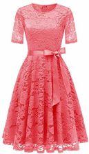 2975b49803 Amazon dresstells elegancka sukienka koronkowa okrągłe wycięcie pod szyją  sukienka letnia sukienka na czas wolny