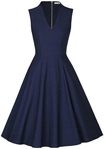 b9b253c88b Amazon muxxn Vintage sukienka damska sukienka sukienka koktajlowa sukienka  Swing sukienki retro Rockabilly