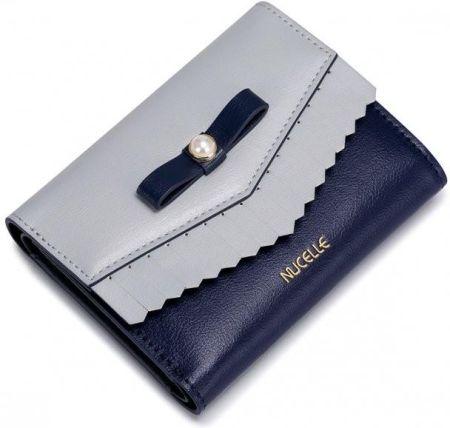 8f29b5cc6fdf9 StylowaTorba.pl Nucelle krótki portfel z perełką Niebieski