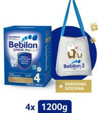 Bebilon Junior 4 Pronutra Plus 4x1200G + Mlekotorba