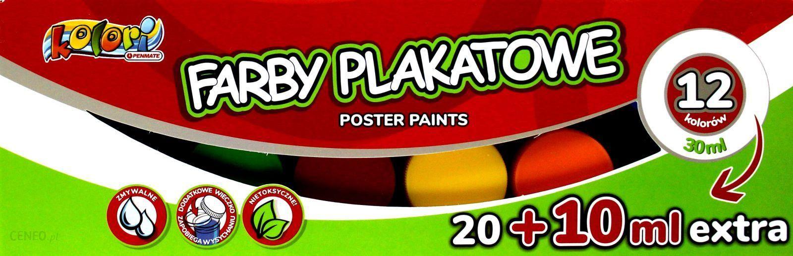 Znalezione obrazy dla zapytania Farby plakatowe 30 ml kolori