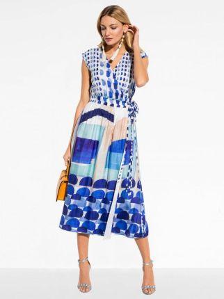 777ce9c15d Sukienka w paski z długim rękawem - Ceny i opinie - Ceneo.pl