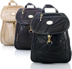 dd08157a58f41 Elegancki skórzany plecak damski Patchwork 23413-1