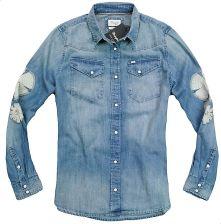 ed4421d22318de Wrangler Flowe Damska Koszula Oversized Jeans - S - Ceny i opinie ...