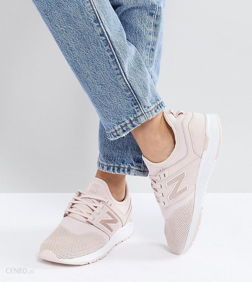 New Balance 247 Luxe Trainers In Pink Nubuck - Pink - Ceneo.pl