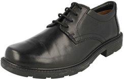 34b1d808fcdd4 Amazon Clarks Lair zadanie Mens czarna skórzana grotów się Derby buty