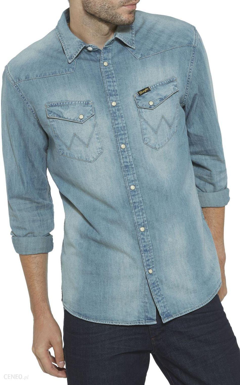 37fee280d350f8 Wrangler Western Shirt Koszula Męska Jeansowa XL - Ceny i opinie ...