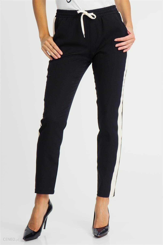 spodnie czarne materiałowe damskie getry