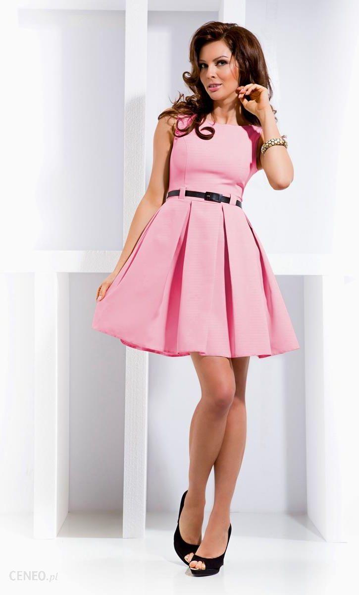 067483b9b7 Numoco Sukienka kloszowana - pastelowy róż 6-5 - Ceny i opinie ...