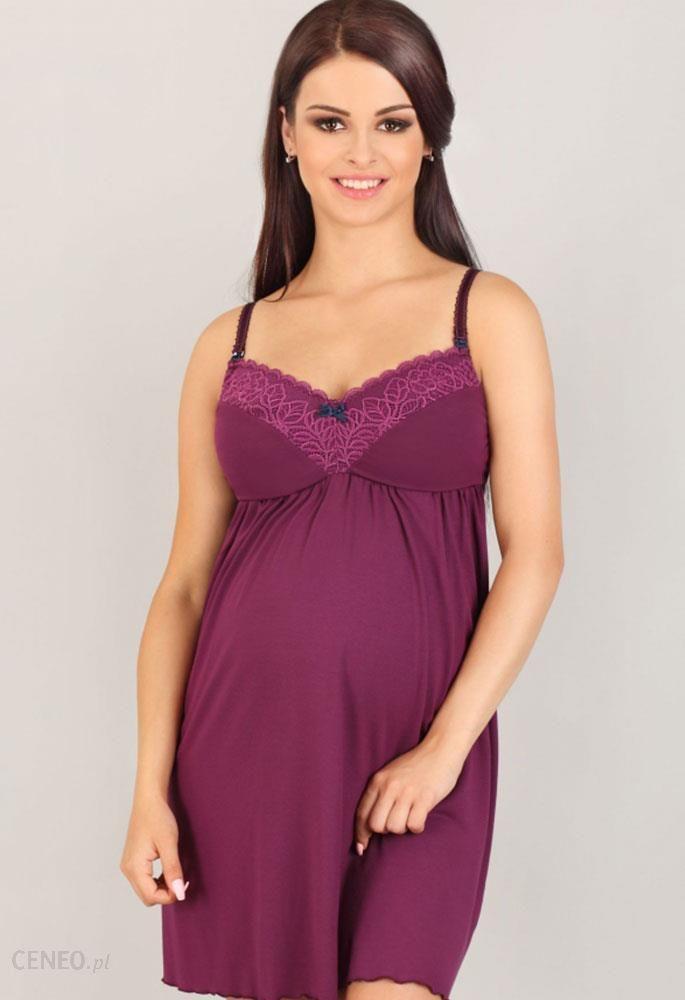7cd8f2b19278cb Koszula nocna dla kobiet w ciąży i karmiących Lupoline fioletowa 3005 -  zdjęcie 1