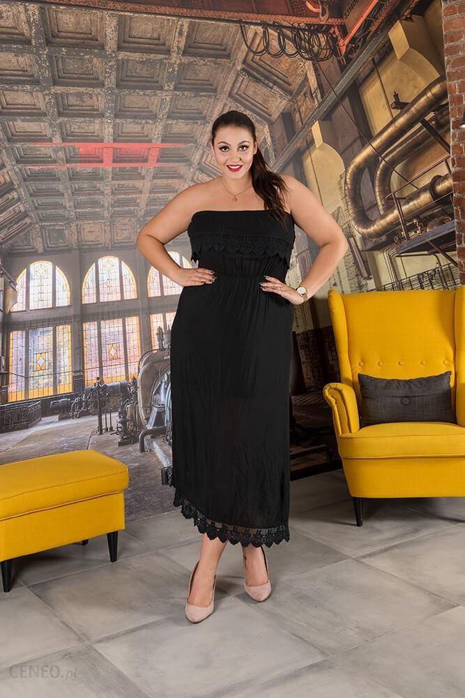 2075f0fdd6 Czarna Sukienka REVIA Hiszpanka Plus Size - czarny - Ceny i opinie ...