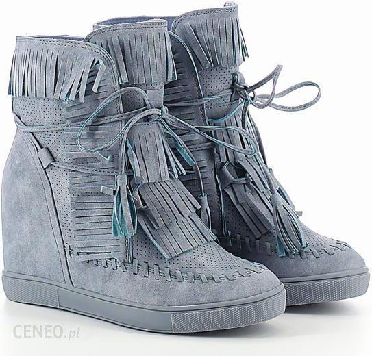 Burgundowe sneakersy na krytym koturnie Obuwie Burgund Ceny i opinie Ceneo.pl
