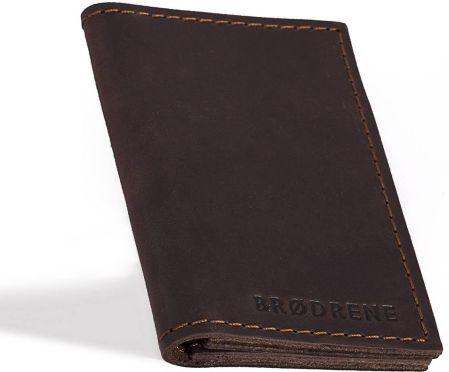 b26205f73e4b0 StylowaTorba.pl Ciemno brązowy skórzany portfel slim wallet Brodrene