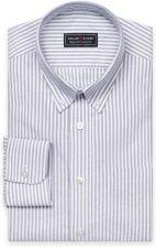 TailorStore Weiß schwarz gestreiftes Oxford-Hemd bd9b708e7b