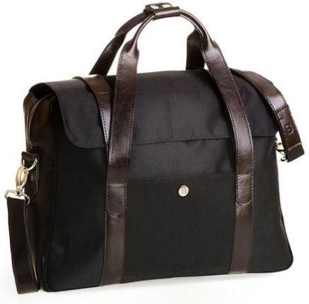 6190ec862d06e StylowaTorba.pl Czarna casual męska torba na ramię Brodrene z czarnym  wnętrzem
